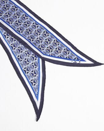 Flavian printed silk tie belt dark indigo.