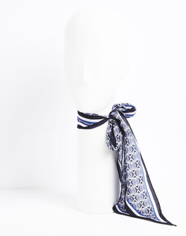 Flavian printed silk tie belt (2) - 1-2-3