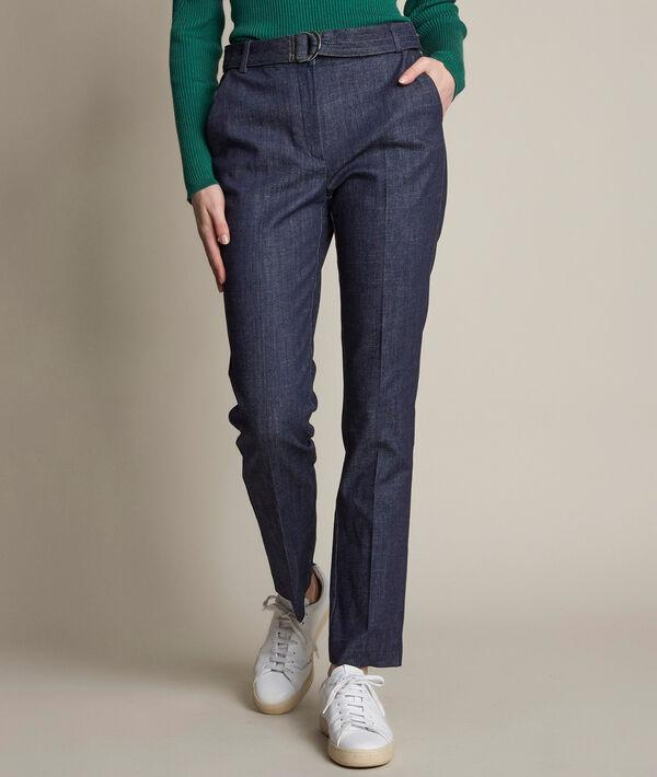 Pantalon en denim ceinturé Amandine PhotoZ | 1-2-3