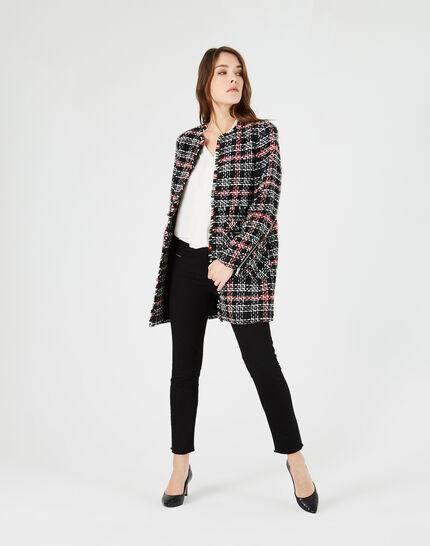 Manteau à carreaux en tweed Joly (1) - 1-2-3