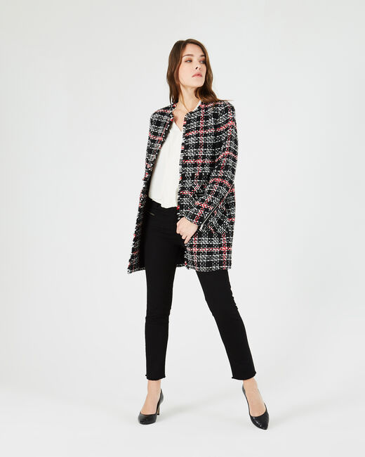 Joly tweed check coat (2) - 1-2-3