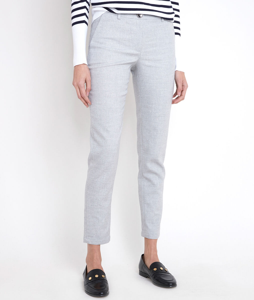 Pantalon cigarette gris lurex Mei PhotoZ | 1-2-3