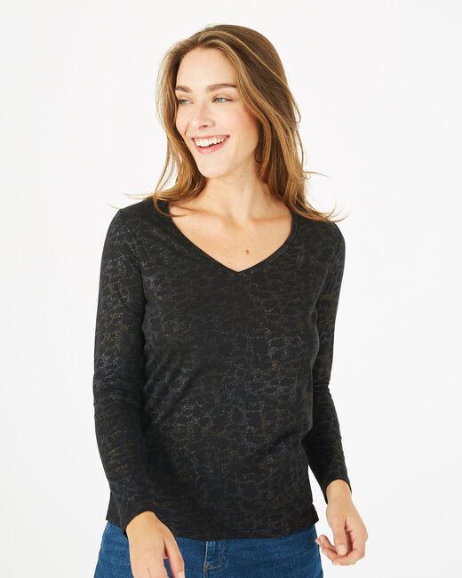 Tee-shirt noir imprimé Beast (2) - 1-2-3