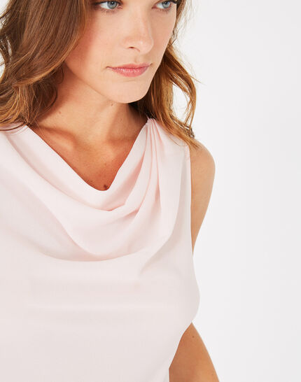 Daisy pale pink top with cowl neckline (2) - 1-2-3