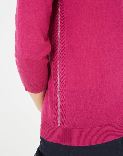 Pétillant raspberry sweater with metallic threading (3) - 1-2-3