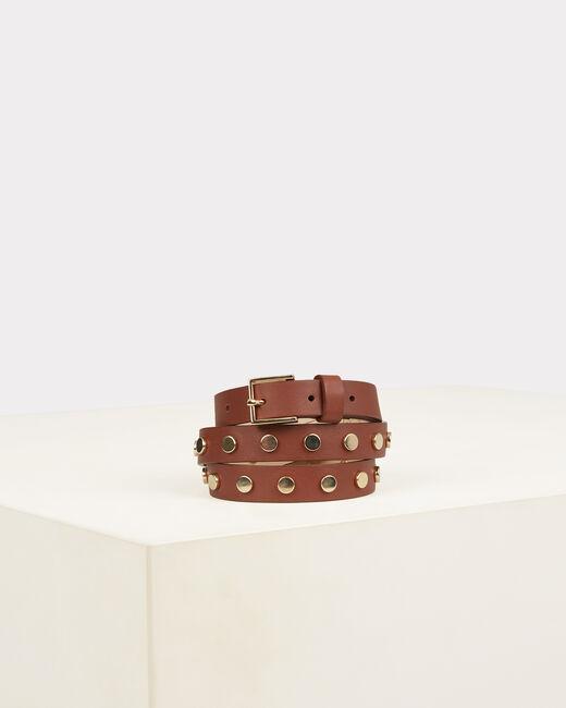 Orphée camel leather belt (2) - 1-2-3
