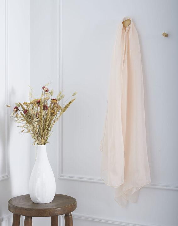 Foulard rose pâle en soie Alice (1) - Maison 123