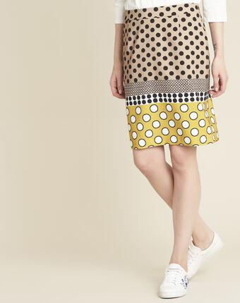Kurtys yellow polka dot printed skirt sun.