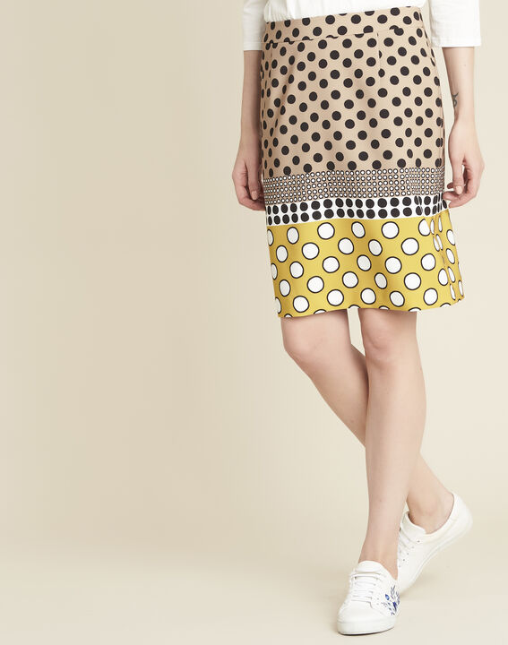 Kurtys yellow polka dot printed skirt (1) - 1-2-3