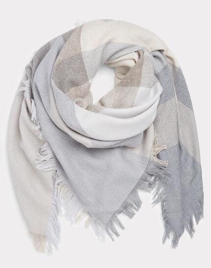 Ella marl grey scarf in a wool blend (2) - 1-2-3