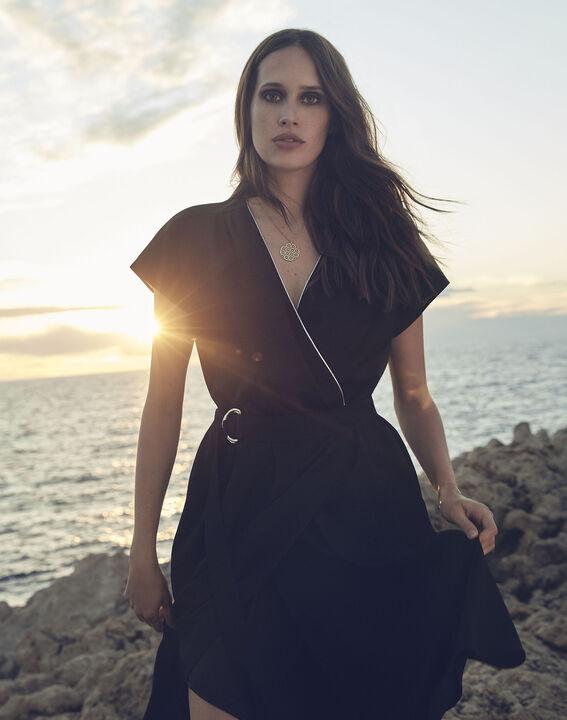 Robe noire portefeuille asymétrique Hodda PhotoZ | 1-2-3