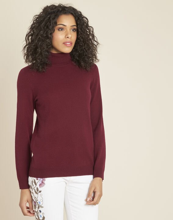 Perceneige burgundy polo-neck cashmere sweater (1) - Maison 123