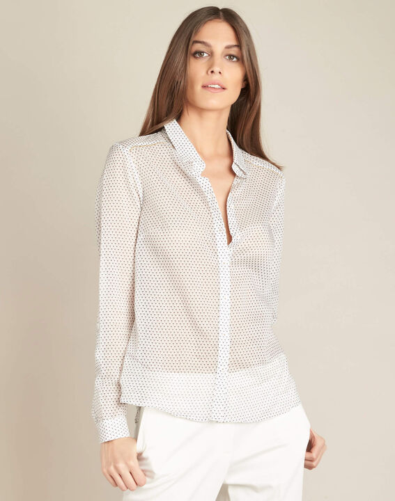 Ravel ecru cotton printed shirt (3) - 1-2-3