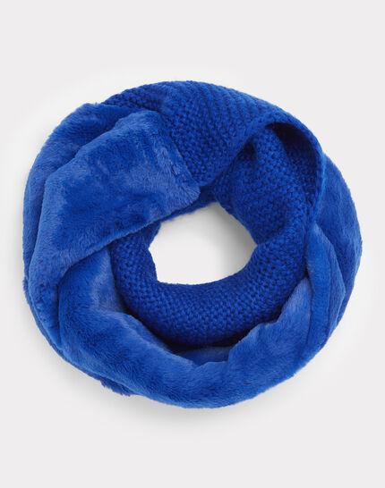 Königsblauer Loopschal aus Woll-Mix Tigresse (1) - 1-2-3