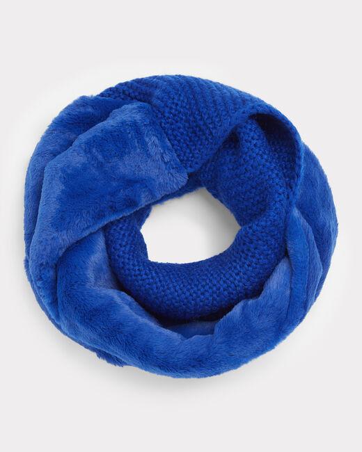 Echarpe bleu roi ronde en laine mélangée Tigresse (1) - 1-2-3