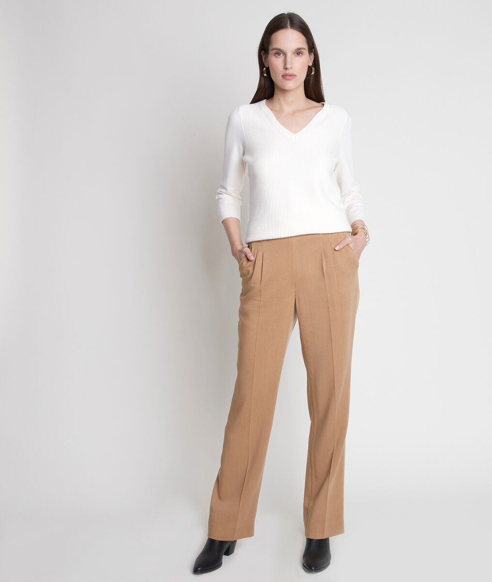 Pantalon large en lyocell camel Declan PhotoZ | 1-2-3
