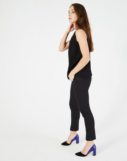 Grace black, tailored trousers with slits (1) - 1-2-3