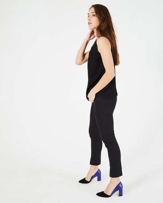 Grace black, tailored trousers with slits (2) - 1-2-3