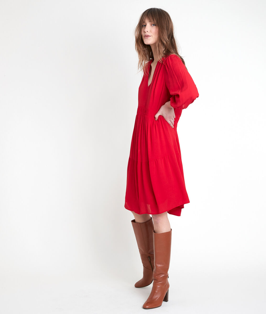 Robe en crêpe rouge Minette PhotoZ | 1-2-3