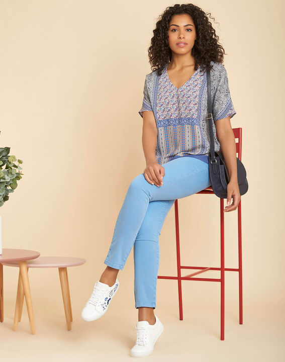Vendôme slim-cut standard size stonewash jeans (2) - 1-2-3