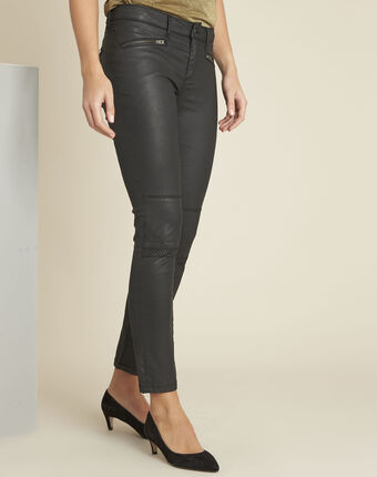Schwarze slim jeans im biker-stil turenne schwarz.