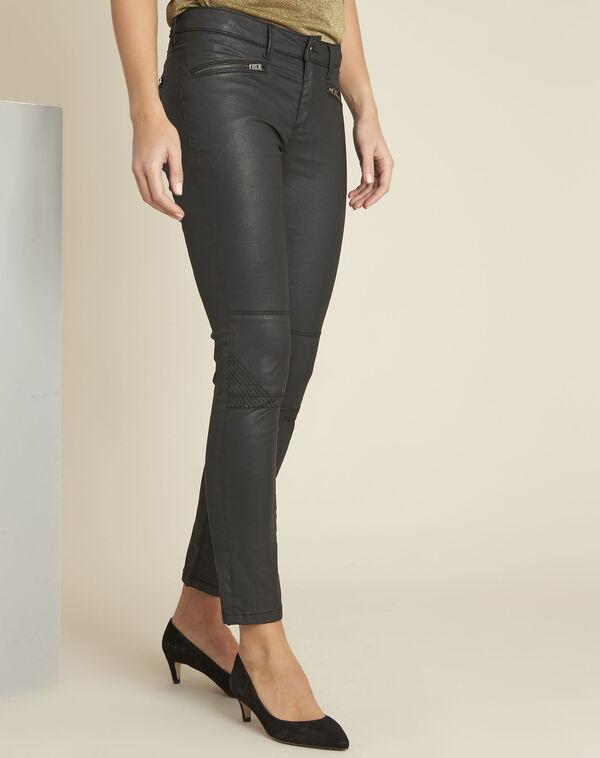 Turenne black slim-cut biker style jeans (1) - 1-2-3
