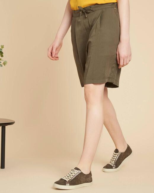 Janel khaki shorts with tie belt (2) - 1-2-3