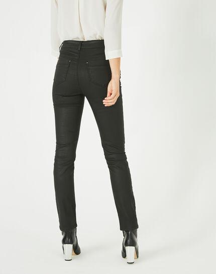 Oliver ⅞-length, coated black jeans (4) - 1-2-3