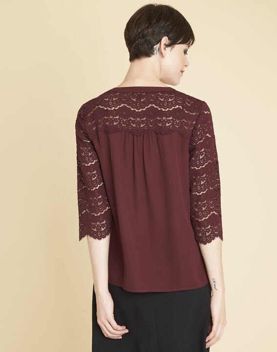 Colette burgundy blouse in lace (4) - 1-2-3