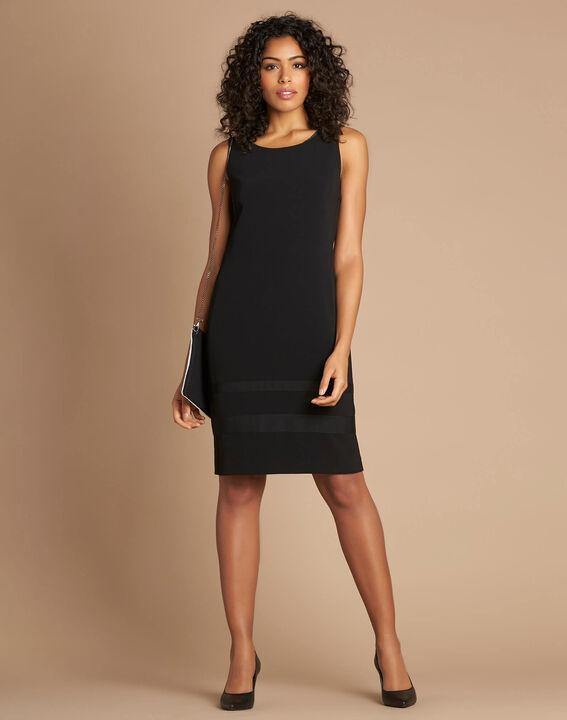 Robe noire droite sans manches Abricot (2) - 1-2-3