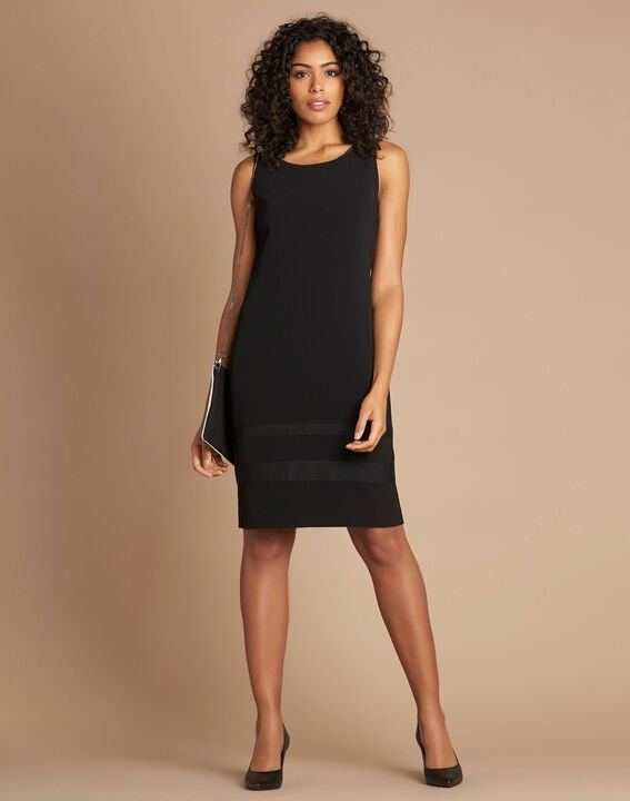 Abricot sleeveless straight-cut black dress (2) - 1-2-3