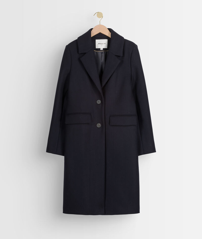 Manteau droit bleu marine Loulou PhotoZ   1-2-3