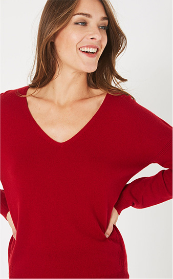 PIMENT CASHMERE SWEATER