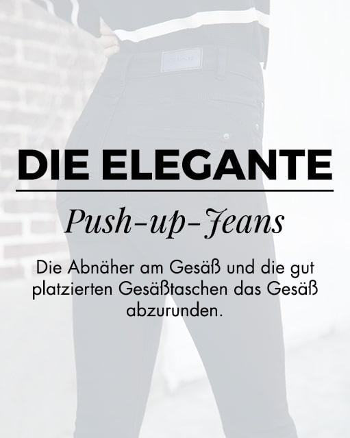 Die elegante push-up-jeans